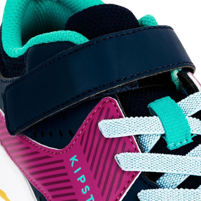 Volleyballschuhe V100 mit Klettverschluss Kinder blau/rosa