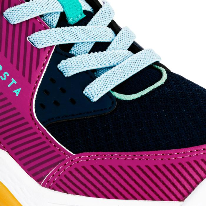 Volleyballschuhe V100 Klettverschluss Kinder blau/rosa