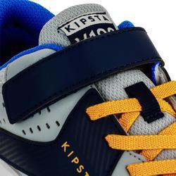 Volleybalschoenen voor jongens V100 met klittenband grijs/blauw