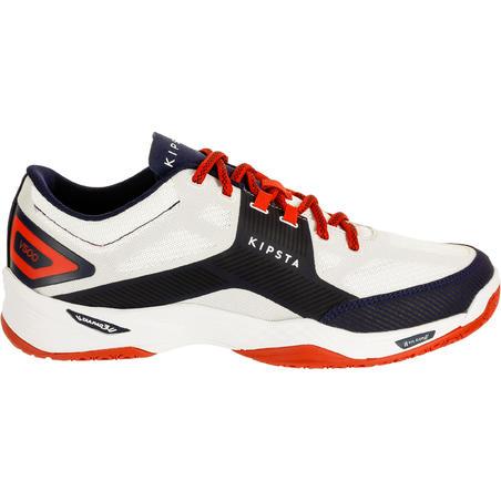 Tenis de voleibol V500 hombre blanco y azul