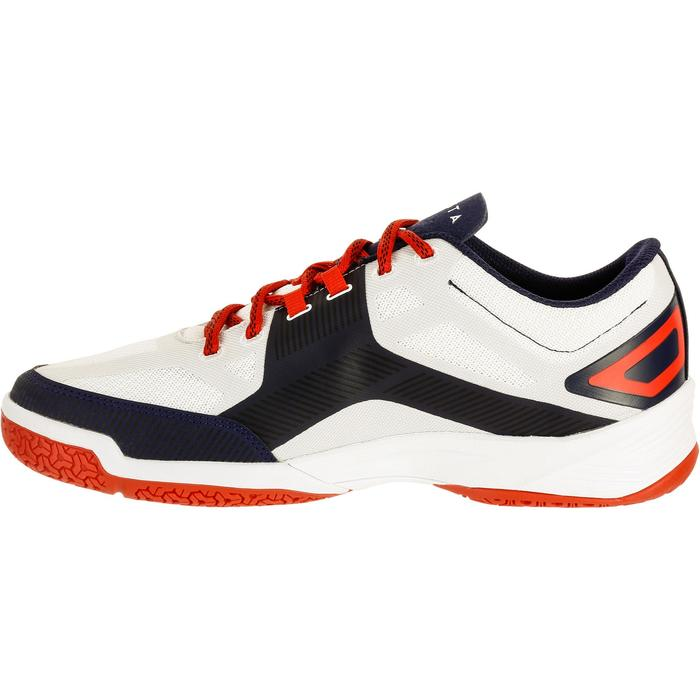 Chaussures de volley-ball V500 blanches et bleues