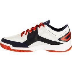 Volleybalschoenen V500 wit en blauw