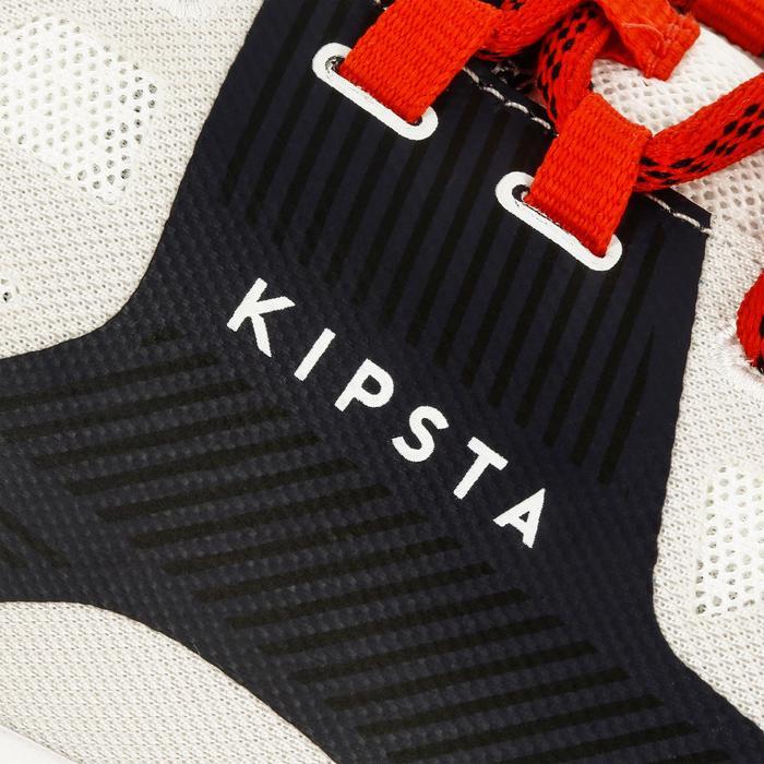 Volleybalschoenen V500 voor heren wit en blauw