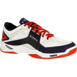 排球鞋V500-白色/藍色