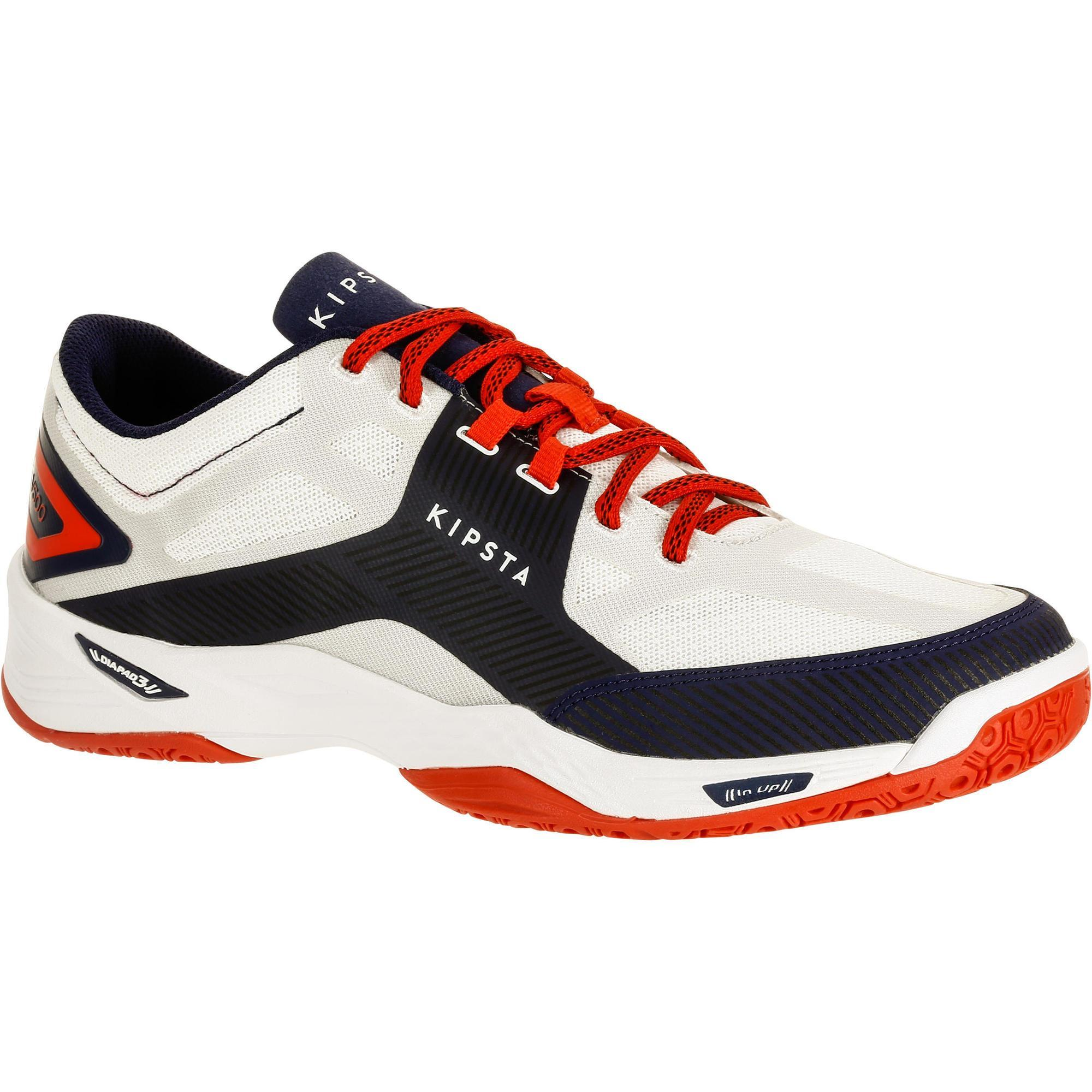 Allsix Volleybalschoenen V500 voor heren wit en blauw