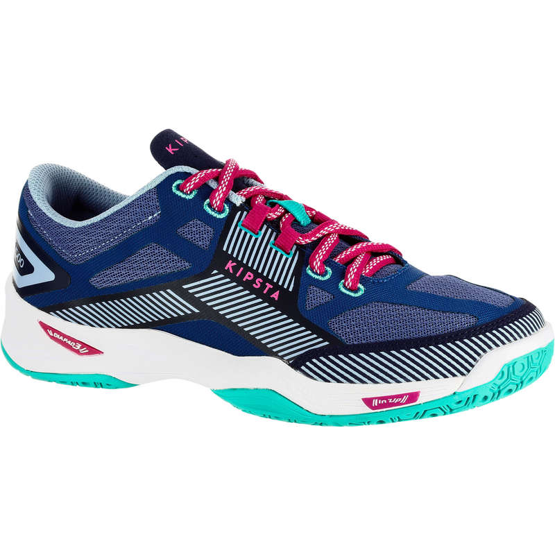 VOLLEY BALL SHOES Volleyball and Beach Volleyball - V500 Women's Shoes - Blue/Navy ALLSIX - Volleyball and Beach Volleyball