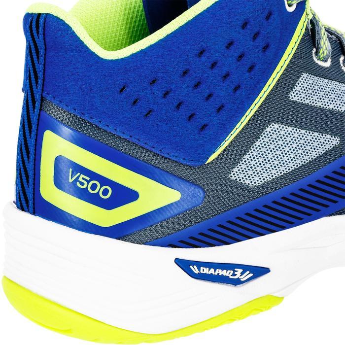 Zapatillas mid de voleibol V500 hombre azules