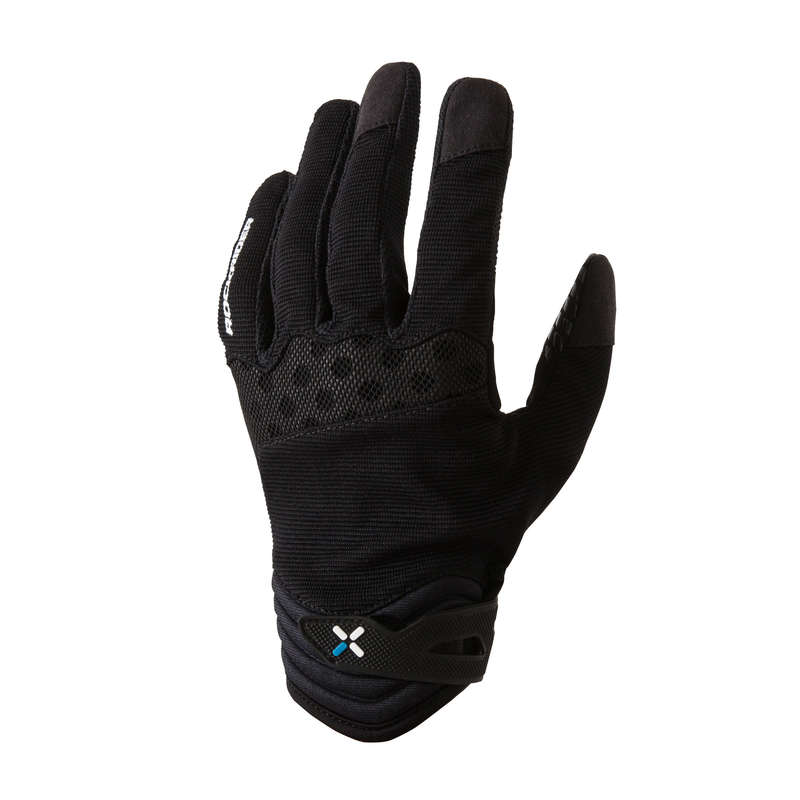 WARM WEATHER BEGINNER ST MTB GLOVES - 500 Mountain Bike Cycling Gloves - Black ROCKRIDER