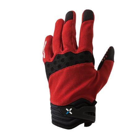 XC kalnų dviratininko pirštinės, raudonos