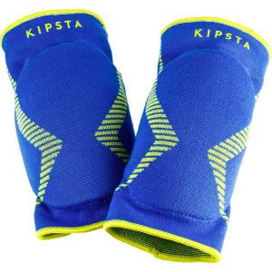 knee pad v500 bleu jaune