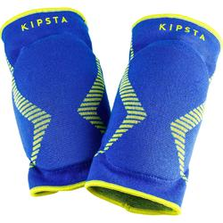 Kniebeschermers volleybal V500 blauw en geel