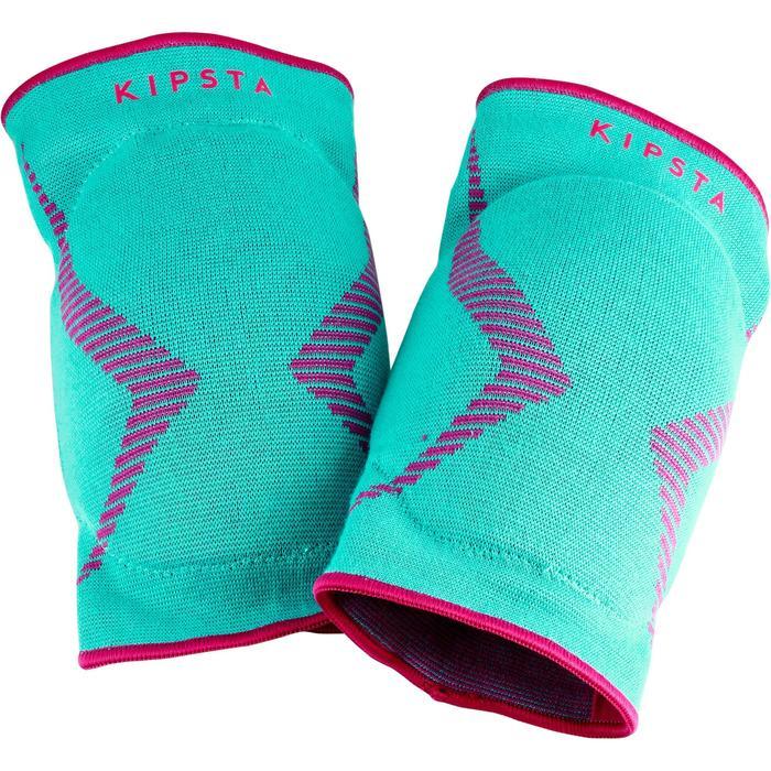 Kniebeschermers volleybal V500 groen en roze