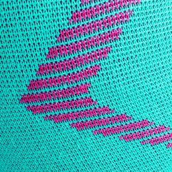 Rodilleras de voleibol V500 verdes y rosa