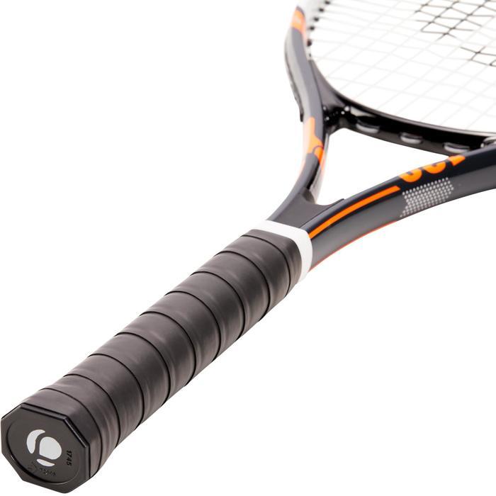 Set van 2 tennisrackets voor volwassenen TR130 blauw en oranje en 2 ballen TB160