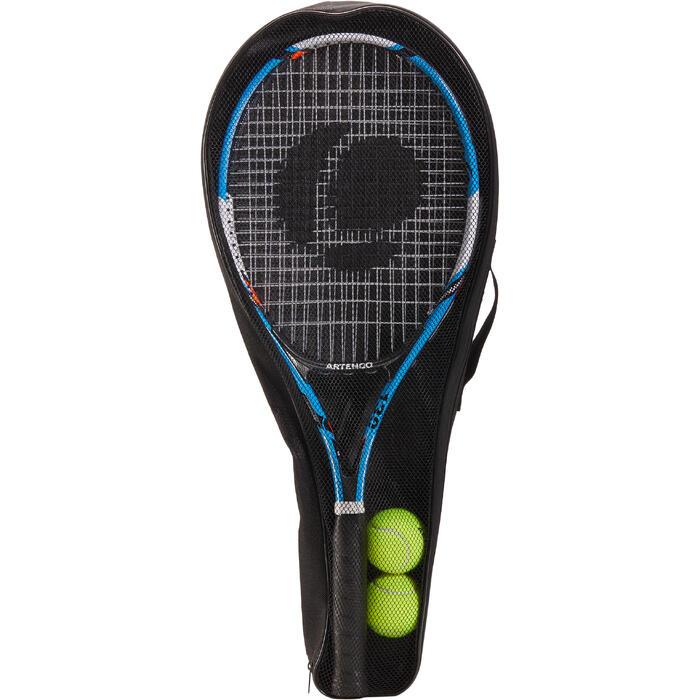 Set de 2 Raquettes de tennis adulte TR130 Bleue et Orange - 1313181
