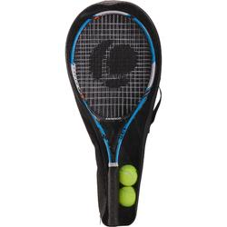 TR130 Adults' Set of Two Rackets and Two TB160 Balls - Blue/Orange