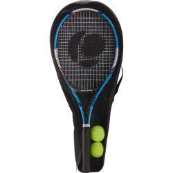 成人款網球拍組TR130(內含兩支球拍及兩顆TB160網球)-藍色/橘色