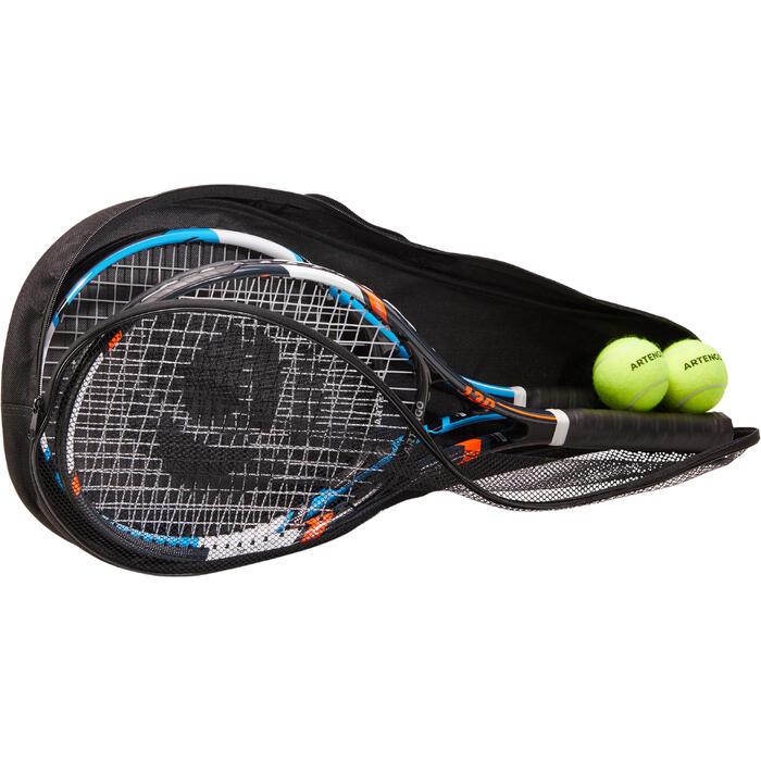 Set de 2 Raquettes de tennis adulte TR130 Bleue et Orange - 1313222