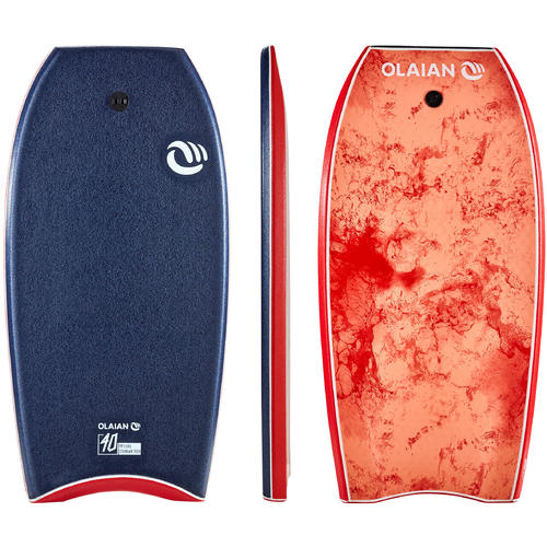 Bodyboard 900 bleu Gabarit 1m55-1m70 40'' + leash