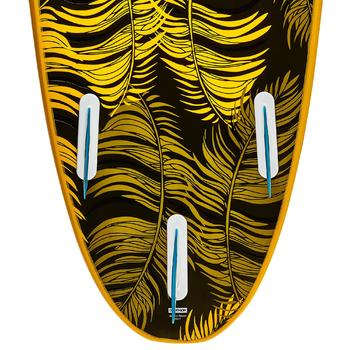 Tabla Surf Espuma Evolutiva Olaian 100 7' Niño Naranja Turquesa Estampado Leash
