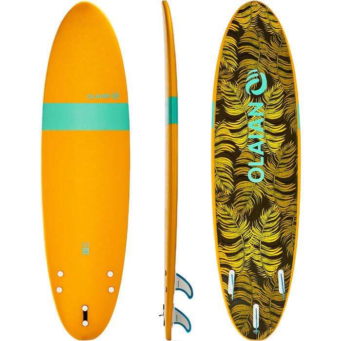 Planche de surf en mousse 100 7'. Livrée avec leash et ailerons. - 1313346
