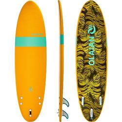 Tabla de surf de espuma 7' 100.Entregada con 1 leash y 3 quillas.