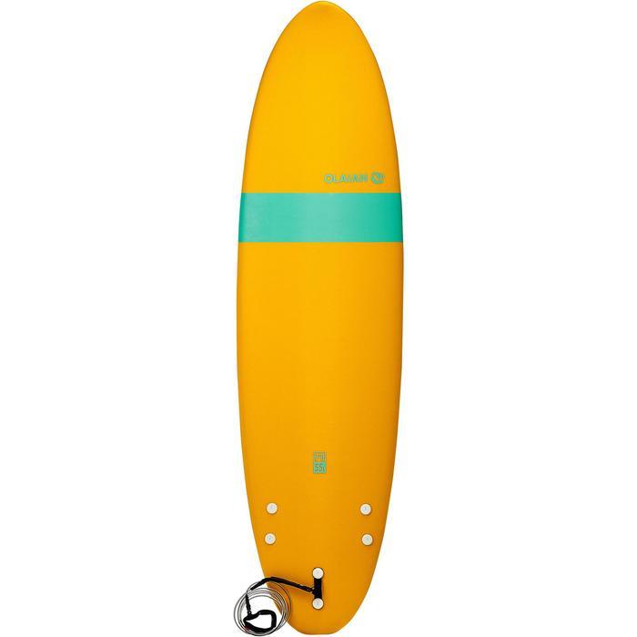 Planche de surf en mousse 100 7'. Livrée avec leash et ailerons. - 1313348