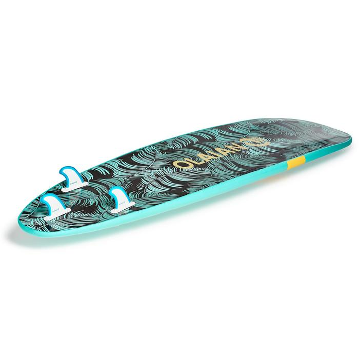 Surfboard 100 Schaumstoff 8' Soft mit Leash und 3 Finnen