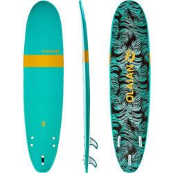 Foam surfboard 100, 8'. Geleverd met een leash en 3 vinnen.