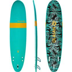 Tabla de surf de espuma 100, 8'. Se entrega con leash y 3 quillas.