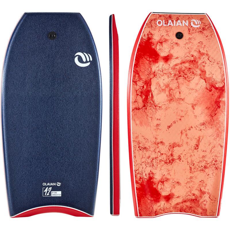 Bodyboard soft 900 42'' blu-rosso + leash
