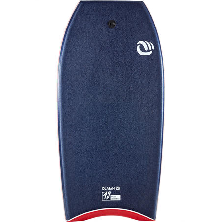 "Bodyboard 900 Blue User Size >1.85m 45"" Polypropylene Stringer + Leash"