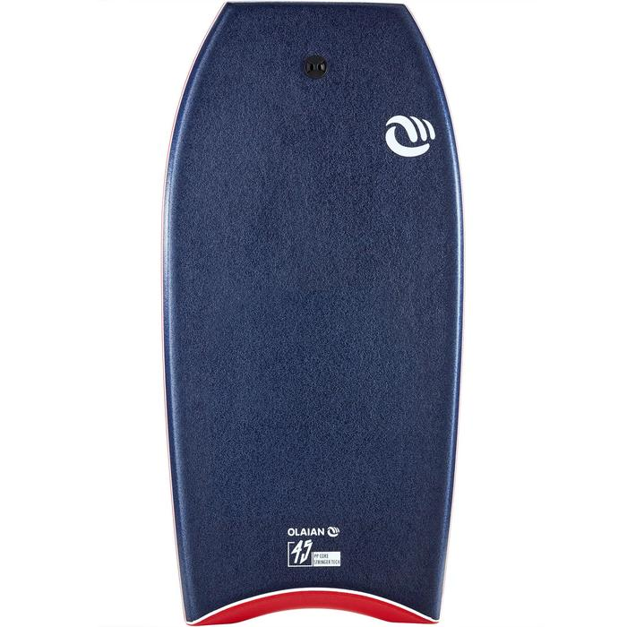 "Bodyboard 900 blauw personen > 1m85 45"" polyproplyeen stringer + leash"