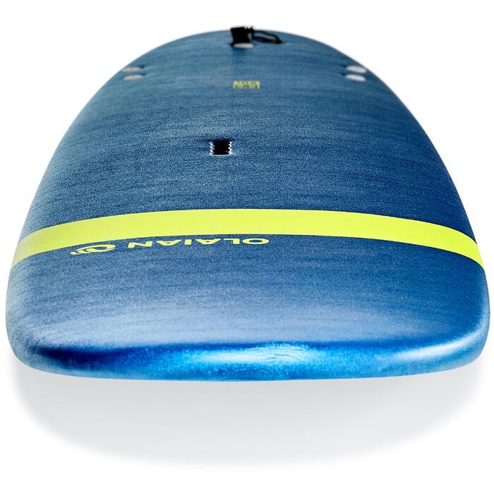 """Surfboard 100 Soft 8'6"""" mit Leash und 3 Finnen"""