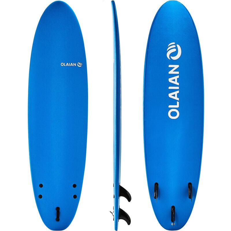 泡棉衝浪板100 7'。附有1副腳繩和3片板舵。