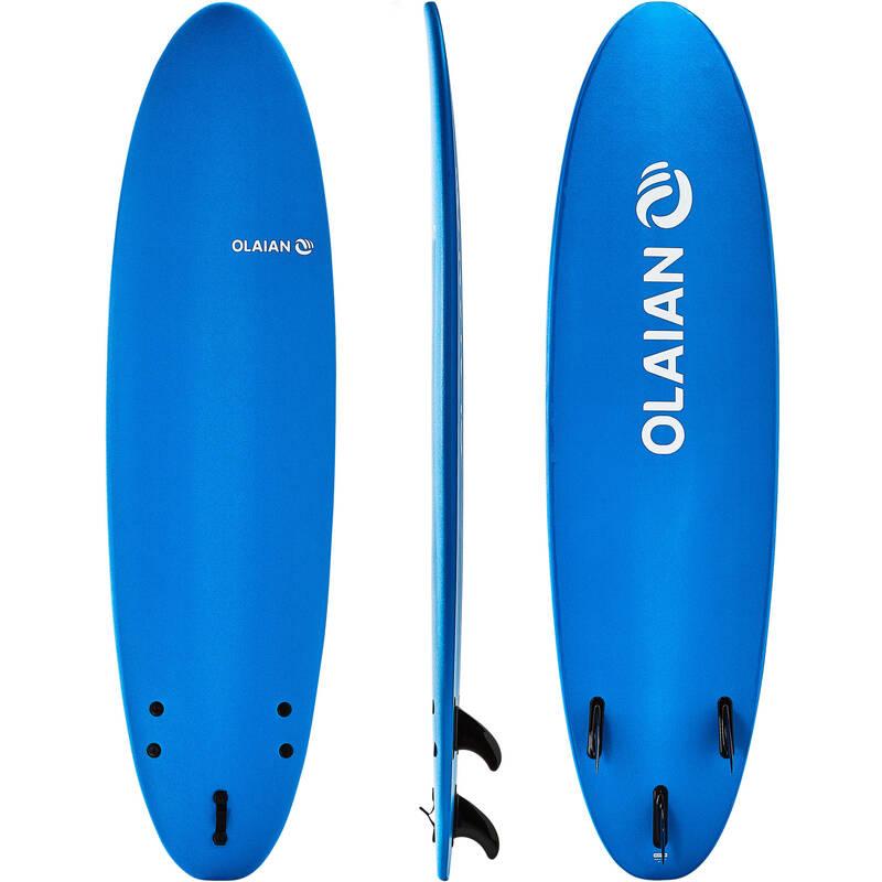 SURFINGOVÁ PRKNA ZAČÁTEČNÍCI Surfing a bodyboard - SURF 100 PB 7' SOFT OLAIAN - Surfy, bodyboardy a skimboardy