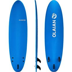 100 Foam Surfboard 7'. Supplied with a leash and fins.