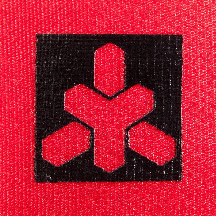 Beschermende polssteunen met klittenbandsluiting voor krachttraining rood Domyos