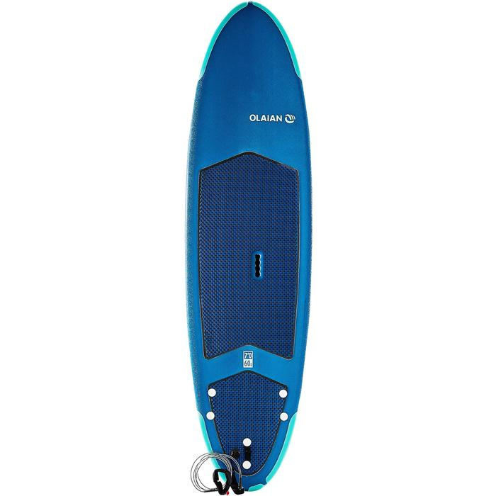 Surfboard 500 Schaumstoff Soft 7' mit Leash und Finnen