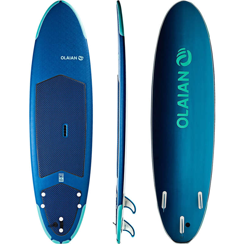 SURFBOARDS BEGINNER - SURF 500 7' soft TRIBORD
