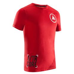 T-shirt crosstraining 500 heren rood