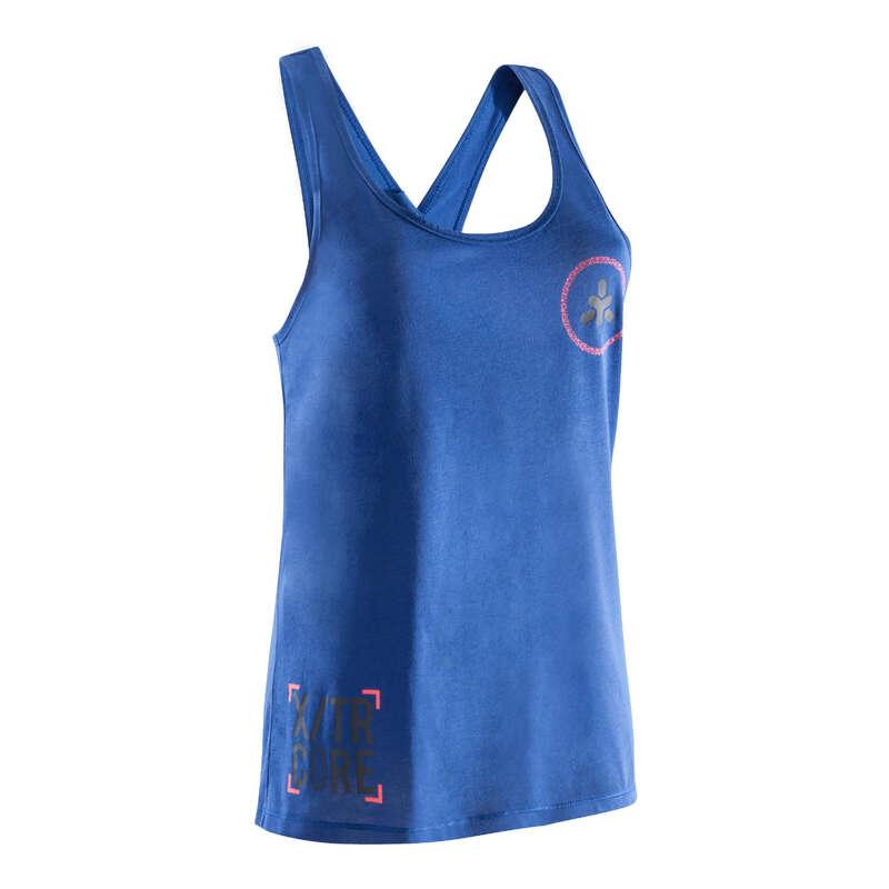 ABBIGLIAMENTO CROSS TRAINING Fitness - Canotta donna 500 azzurra DOMYOS - Abbigliamento bodybuilding