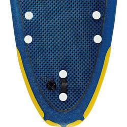 """Foam surfboard 8"""" 500 Geleverd met een leash en drie vinnen."""