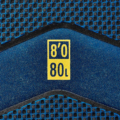 500 גלשן קצף '8. נמכר עם רצועה ו-3 סנפירים.