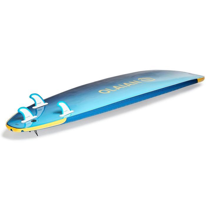 Planche de surf en mousse 500, 8'. Livrée avec un leash et 3 ailerons. - 1313476