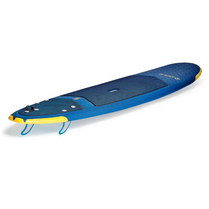 Planche de surf en mousse 500, 8'. Livrée avec un leash et 3 ailerons. - 1313477