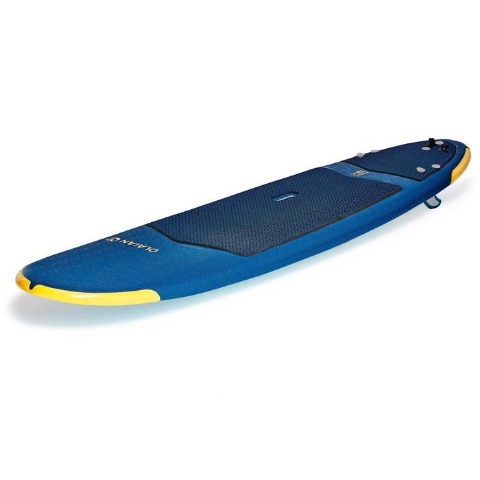 Tabla Surf Espuma Evolutiva Olaian 500 8' Adulto Azul Amarillo Leash Quillas