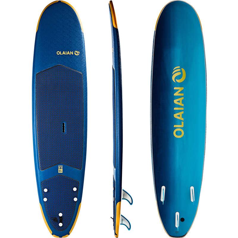 SURFOVACÍ PRKNO POKROČILÍ Surfing a bodyboard - SURF 500 8'' SOFT OLAIAN - Surfy, bodyboardy a skimboardy