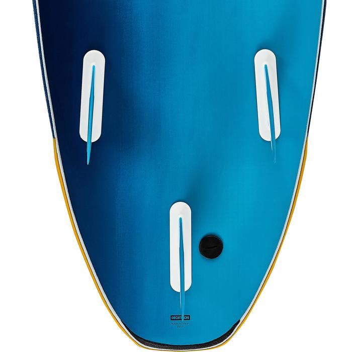 Surfboard 500 Schaumstoff 8' Soft mit Leash und 3 Finnen