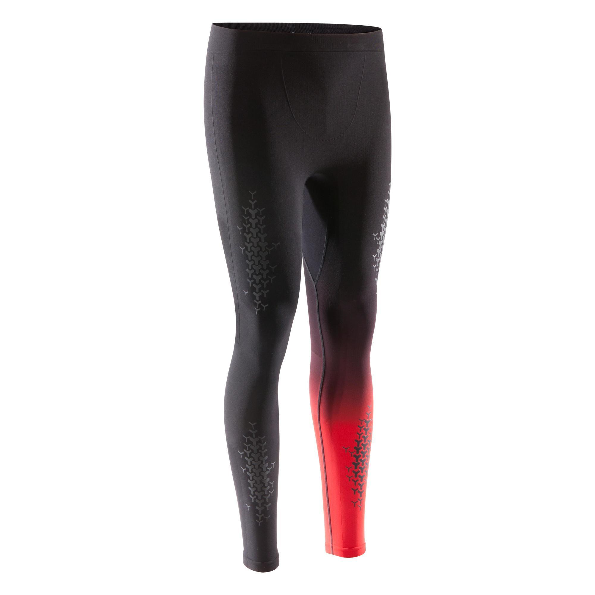 legging crosstraining 900 homme noir rouge domyos by decathlon. Black Bedroom Furniture Sets. Home Design Ideas